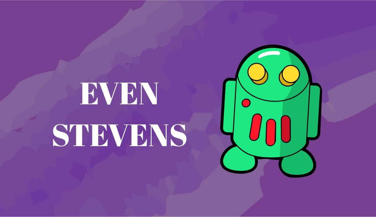 Even Stevens Bingo